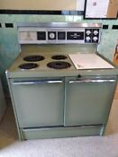 Green Vintage Frigidaire Deluxe Oven Good Condition Works