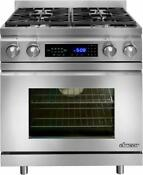 Dacor Distinctive 30 Inch Pro Style Freestanding Dual Fuel Range Dr30dhng