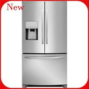 Frigidaire 21 7 Cu Ft Counter Depth French Door Refrigerator With Ice Maker