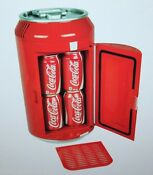 Coca Cola Mini Can Fridge Refrigerator Coke Thermoelectric Cooler 12vdc Or 110ac