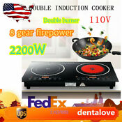 8 Levels 2 2kw Induction Cooker Cooktop Multi Function Double Burner Non Slip