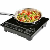 Portable Induction Counter Top Cooker Burner Stove Silver 1800 Watt Compact