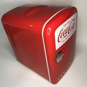 Coca Cola Mini Fridge Cooler Warmer Retro Personal Fridge Koolatron Model Kwc 4u