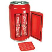 Koolatron Coca Cola 8 Can Portable Mini Fridge 12 Volt Dc Self Locking Red