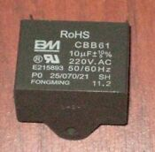 Genuine Ge Vent Blower Motor Capacitor Microwave Replacement Part Wb27x10170