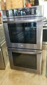 Lg Built In 30 Black Stainless Steel Electric Double Wall Oven Lwd3063bd