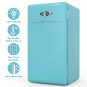 3 2 Cuft Retro Mini Refrigerator Fridge Compact Eco Friendly W Chilling Box Blue