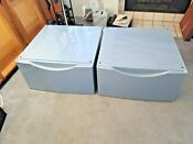 2 Bosch Washer Dryer Laundry Pedestal S With Storage Drawer 14 Tall Nice Set