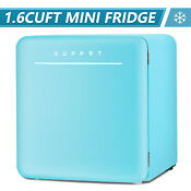 1 6 Cu Ft Retro Mini Refrigerator Fridge Compact Freezer W Chilling Box Blue