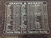 Vintage Stove Parts O Keefe Merritt 50 S Okeefe Gas Range Inner Door Panel
