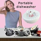 Usb Portable Ultrasonic Dishes Washing Machine 10w Mini 5v Dishwasher Kitch E6a2