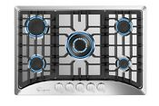 Empava 30 Gas Stove Cooktop With 5 Italy Sabaf Sealed Burners Ng Lpg Convertibl