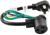 Dryer Adapter Plug Cord 4 Prong To 3 Prong Nema 14 30p Male To 10 30r Female