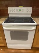 Ge Smooth Top Self Clean 30 Freestanding Electric Range White Local Pickup