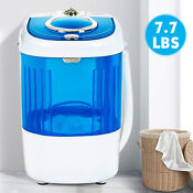 Mini Portable Compact Washing Machine Semi Automatic Laundry Washer Blue Home