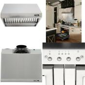 30 In 800 Cfm Professional Style Stainless Steel Range Hood Stainless Steel