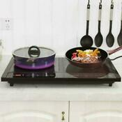 Digital Electric Double Burner Induction Cooker Stove Kitchen Top Portable Dual