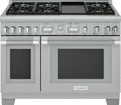 Thermador Pro Grand Prd486wdgu 48 Smart Pro Style Dual Fuel Range With Griddle