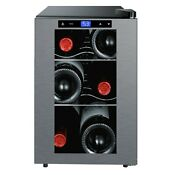 Avanti 6 Bottle Thermoelectric Wine Cooler With Slide Out Shelves