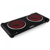 Commercial Convection Double Burner Electric Stove Cooking Cooktop Portable New