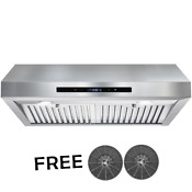 Range Hood Under Cabinet 30 In 350 Cfm Ducted Stainless Steel W Touch Control