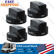 4 Pack Gas Range Knob For Whirlpool Range Stove Oven Replaces Wpw10339442