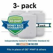 3 Pack Ge Mwf Smartwater Mwfp Comparable Refrigerator Water Filter Hq