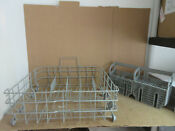Bosch Dishwasher Lower Rack W Silverware Basket Part 00248823