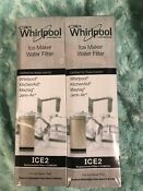 2 Pack Replacement For Ice Maker Water Filter Whirlpool F2wc9i1 Ice2 New