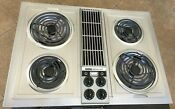 Jenn Air C221 Stainless 30 Electric Downdraft Convertible Cooktop Grill Look