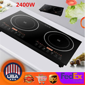 2 4kw Multifunction Induction Cooker Electric Countertop Double Burner Cooktop