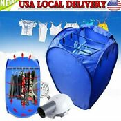 New 800w Portable Electric Air Heater Clothes Dryer Rack Folding Drying Machine