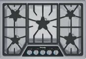 Thermador 30 5 Star Burners Gas Cooktop Sgsx305fs Stainless Steel