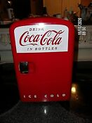 Offical Coca Cola Licensed 6 Can Mini Frdge Works Fine