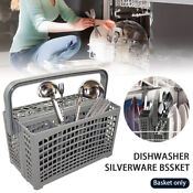 2 In 1 Dishwasher Silverware Basket Flatware Home Grey Utensil Cutlery
