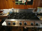 36 Stainless Viking Range Top 6 Burn Nat Gas But Easy Conversion To Lpg