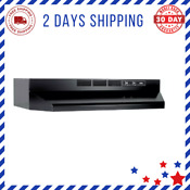 Ductless Range Hood Insert With Ligh Exhaust Fan For Under Cabinet 30 Inch Black