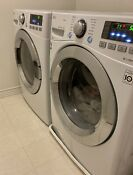 Lg White Washer Wm3670hwa And Dryer Dlgx3371w Combo Perfect Condition