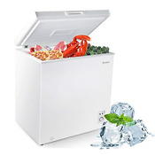 Moosoo Chest Freezer 5 0 Cubic Feet Deep Freezer With Removable Basket Low