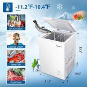 Tacklife Chest Freezer 3 5 Cu Ft Quiet Deep Freezer 7 Temp Settings Energy Savi