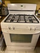 Kenmore Gas Range Stove Excellent Used Condition White And Matching Microwave