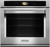 Kitchenaid Kose900hss Smart 30 Single Convection Wall Oven Stainless Steel