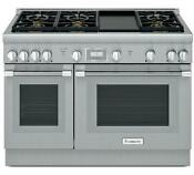 Thermador 48 Professional Series Pro Harmony Gas Range Prg486wdh Stainless