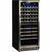 Stainless Steel 110 Bottle Commercial Wine Cooler Built In Cellar Refrigerator