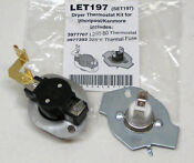 N197 Dryer Limit Thermal Thermostat Kit For Whirlpool Kenmore 279816 Better