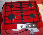 Miele Stainless Steel Gas Cooktop 24 Km 360 G Display Model Ferrari Red