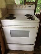 White Electric Kenmore Stove Works Great Make Me An Offer