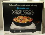Sanyo Surf Cool Ic 54 1300w Portable Countertop Induction Cooktop W Skillet Nos