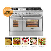 Thor Kitchen 48 Gas Rangetop Electric Oven 6 Burners Stoves Hrd4803u Dual Fuel