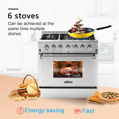Thor Kitchen 36 Gas Rangetop Electric Oven 6 Burners Stoves Hrd3606u Dual Fuel